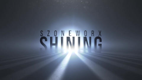 SHINING TEXT or LOGO INTRO After Effects Template
