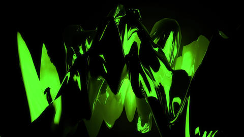 Toxic Green Abstract 3D Landscape Flowing Seamless Videoloop Animation