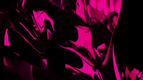 3D Neon Pink Abstract Landscape Morphing Endlessly Looping Background Animation