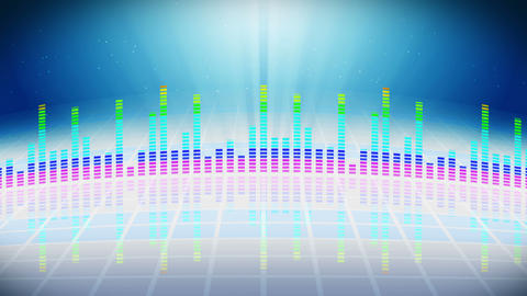 Colorful sound waves for party. Disco background. Abstract colorful wave pattern. Loop animation of Animation