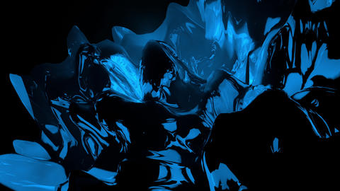 Dark Blue Abstract Morphing 3D Landscape Looping Background Animation