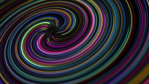 Abstract Hypnotic Glowing Spiral Vortex Background Animation