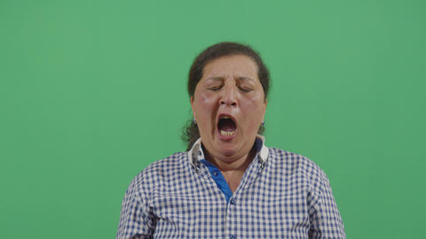 Woman Yawning Deeply Live Action