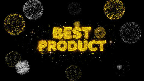 Best Product Text Reveal on Glitter Golden Particles Firework Footage