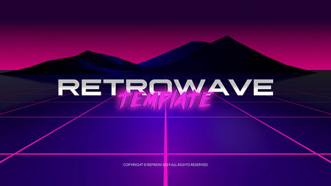 Retrowave Logo Reveal After Effects Template