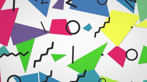 Motion retro geometric shape abstract background Animation
