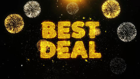 Best Deal Text on Firework Display Explosion Particles Live Action