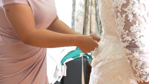 shot of elegant bridal dress Live Action