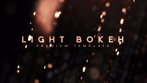 Light bokeh After Effects Template
