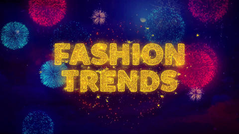 Fashion Trends Text on Colorful Ftirework Explosion Particles Live Action