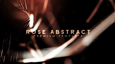 Rose Abstract After Effects Template