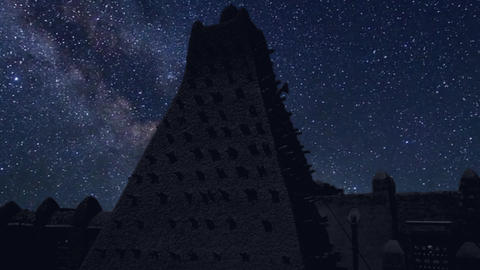 time lapse with stars, Timbuktu Mali, Africa Live Action