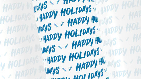 Happy Holidays Text Background GIF
