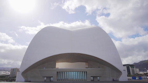 The art of architecture is the exterior of the auditorium. Roof of a beautiful Footage