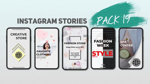 Instagram Stories Pack 19 After Effects Template