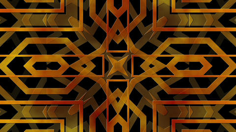 Golden Frames In Abstract Art Deco Style Looping Background Animation