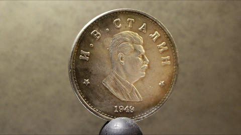 Stalin coin USSR era Live Action