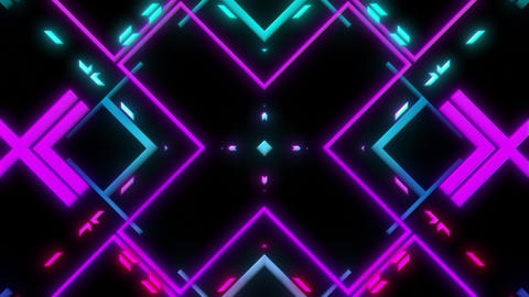 Retro Styled Abstract VJ VIdeo Loop With Bright Purple And Blue Lines Animation