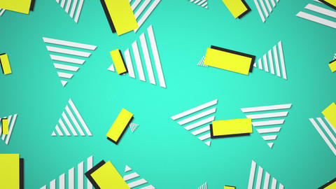Motion retro shapes abstract background Animation