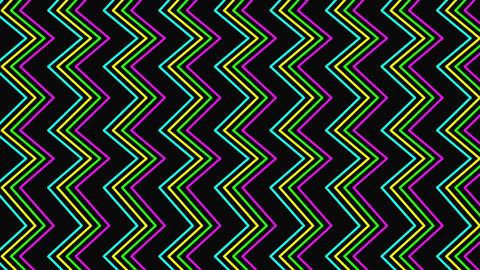 Motion retro zig zag abstract background Animation