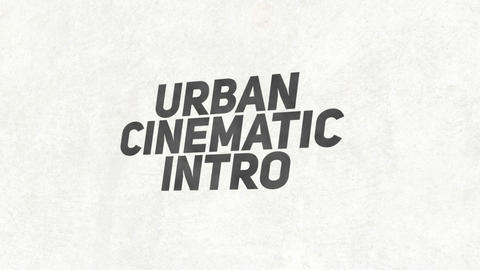 Urban Cinematic Intro Plantillas de Premiere Pro