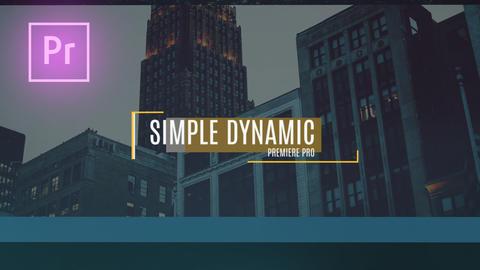 Simple Dynamic Slideshow Premiere Pro Template