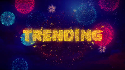 Trending Text on Colorful Ftirework Explosion Particles Live Action