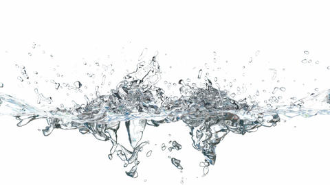 3D animated water splash Animation