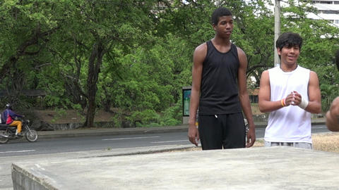 Acrobatic Youth Parkour Flip Footage