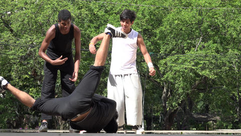 Young People Break Dancing Footage
