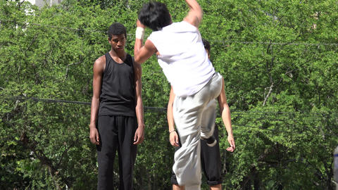 Acrobatics Parkour And Break Dancing Footage