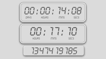 Random Counting timer alarms design element for intro 애프터 이펙트 템플릿