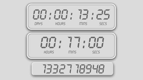 Random Counting timer alarms design element for intro After Effects Template