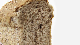 Granary loaf of bread extreme close up UHD stock footage Footage
