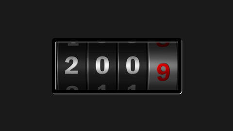Roller calendar counting years design element for intro in black After Effects Template