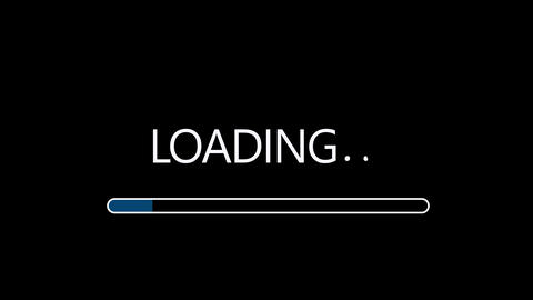 Simple style Loading bar design element HUD After Effects Template
