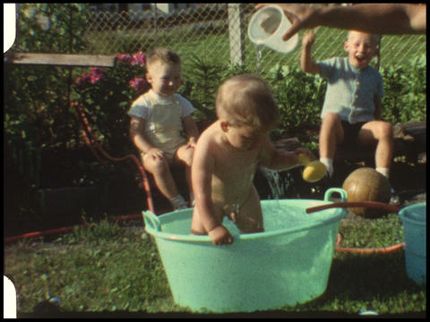 Baby in pool 3 Footage