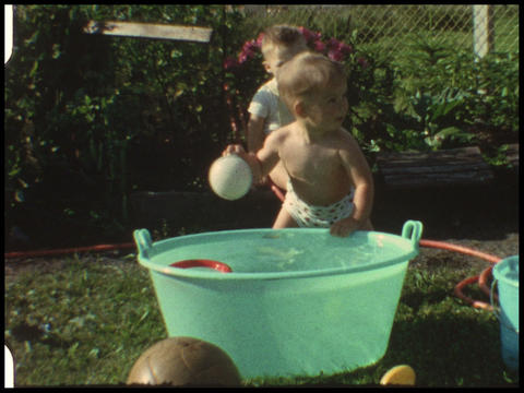 Baby in pool 4 Footage