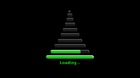 Hi-tech Christmas tree Loading bar design element HUD After Effects Template
