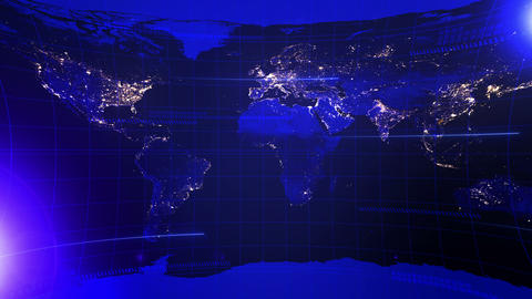 News, world wide, loop, cg Animation