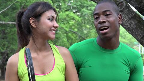 Fitness Athletic People Talking Footage