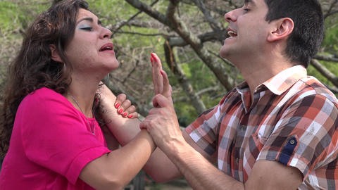 Abusive Husband Fighting With Wife Live Action