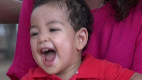 Baby Boy Having Fun Bouncing Live Action