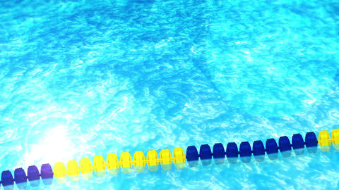 swim in a swimming pool, rope, loop, cg Animation
