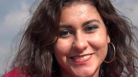 Hispanic Woman Smiling Footage