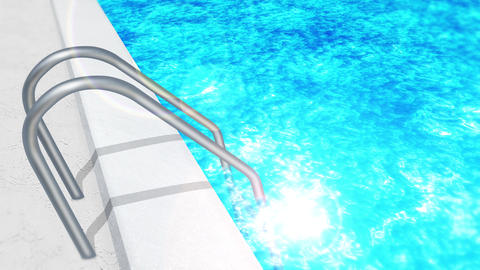 swim in a swimming pool, ladder, loop, cg CG動画