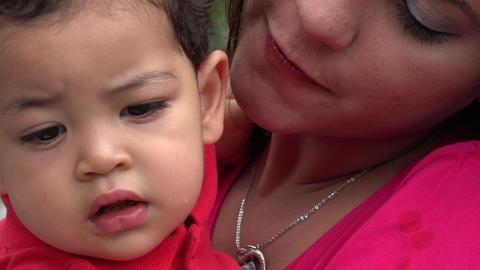Tired Hispanic Baby Boy Footage