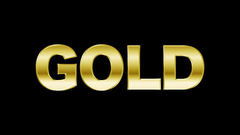 Gold text After Effects Animation Preset