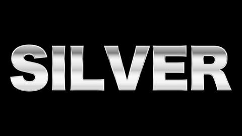 Silver text After Effects Animation Preset