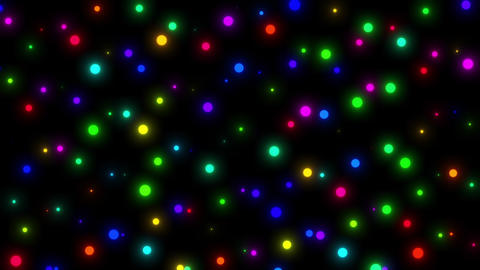 Happy Video Loop Of Bright Colorful Dots Moving Endlessly Animation